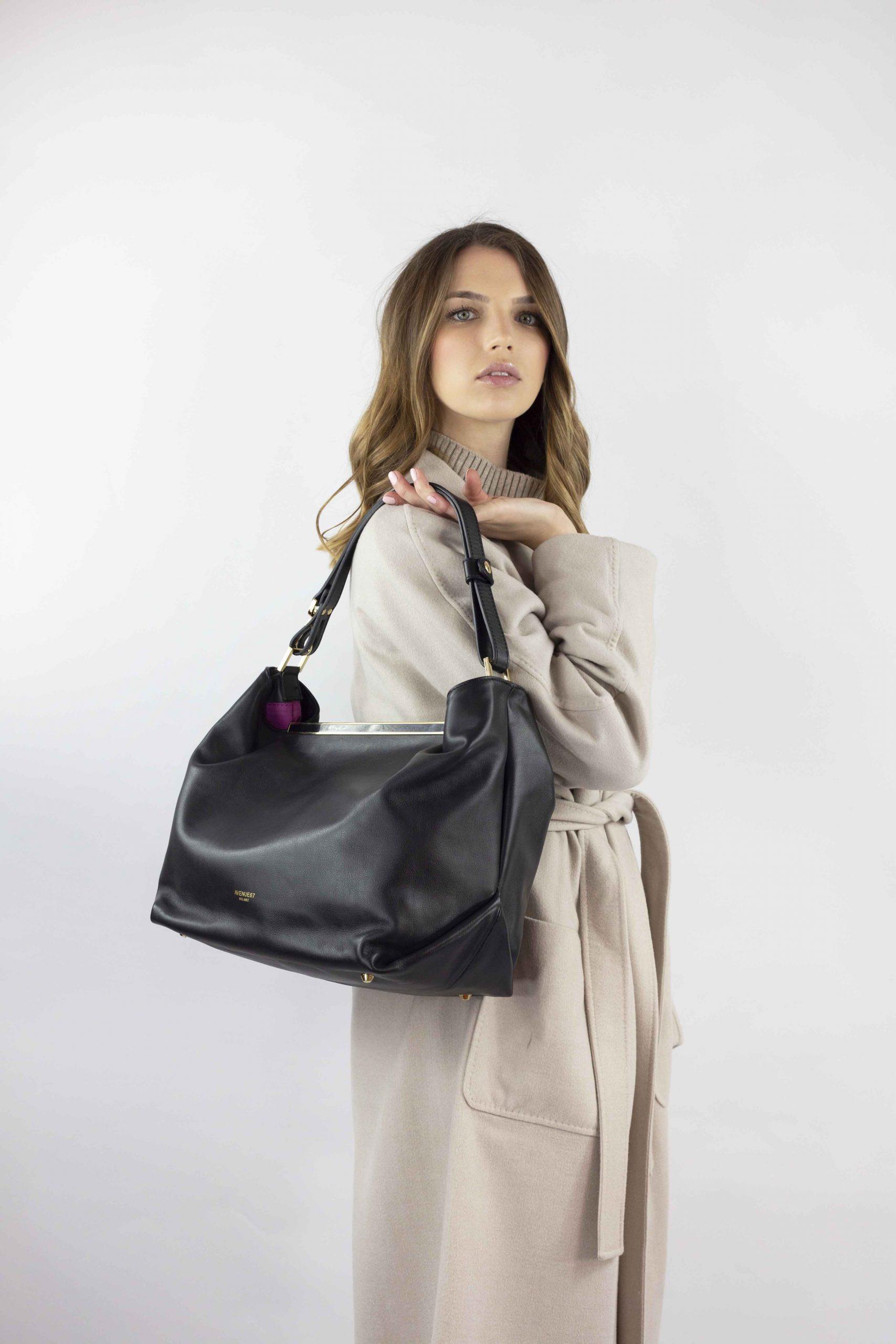 borsa shopper india colore nero avenue 67